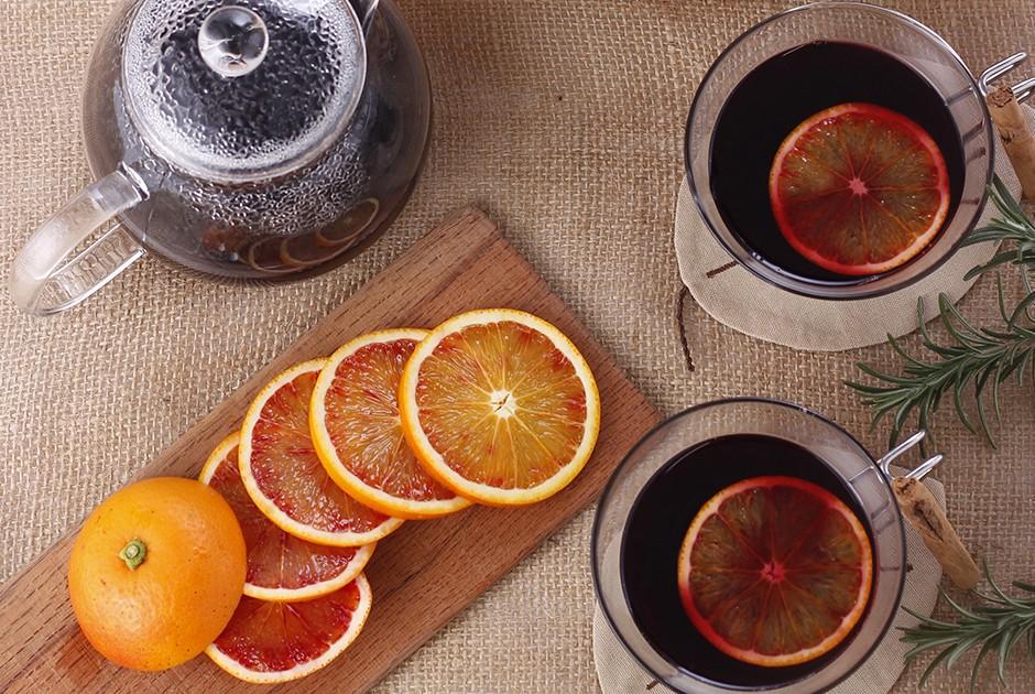 ブラッドオレンジのホットワイン