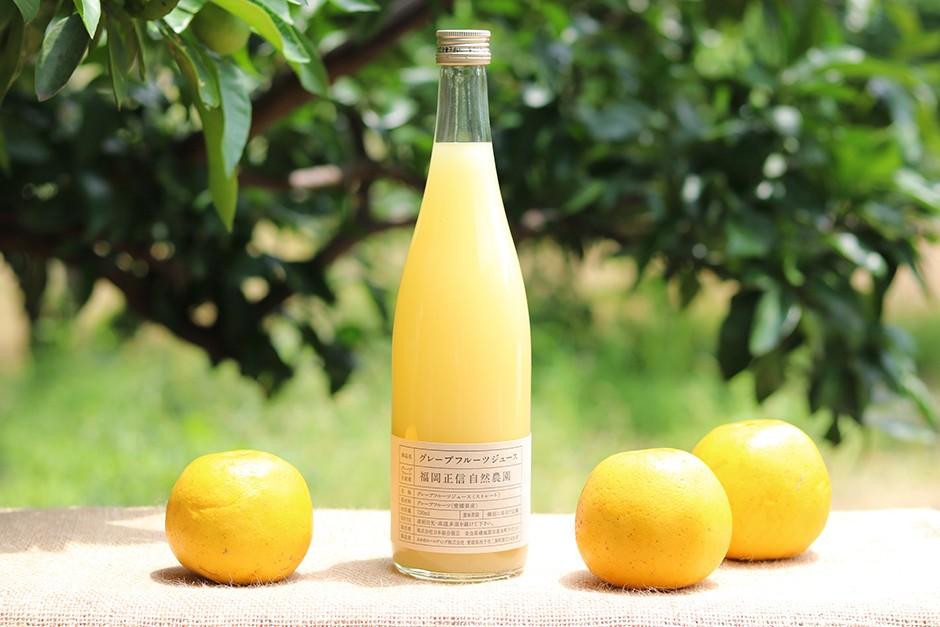 福岡正信自然農園のグレープフルーツジュース